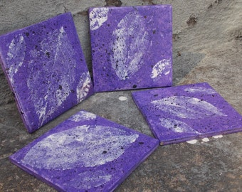 Purple Leaf Coasters