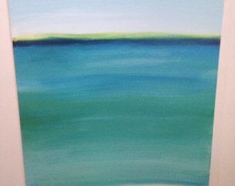 Acrylic painting sea