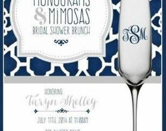 Monograms and Mimosas DIGITAL DOWNLOAD