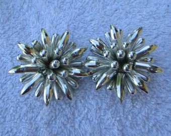 Star Burst Clip On Earrings