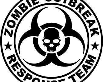 Zombie Outbreak Response Vehicle Vinyl Decal - Choose Size/Color