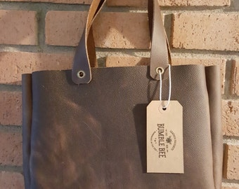 Horween Tote in Waxy Brown Retriever with Scotch Grain 12x9x2.5