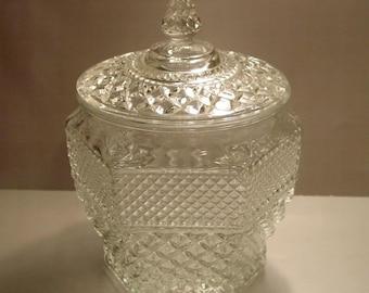 Anchor Hocking Wexford  Glass Cookie Biscuit Jar, Storage, Elegant, Display