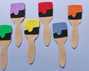 Felt Rainbow Paintbrush Set