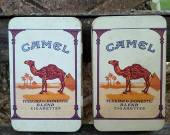 Vintage Camel Tins
