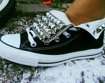 Custom Made Studded Converse shoes