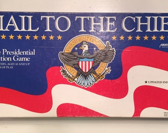 Hail To The Chief Vintage / Complete 1987 Presidential Election Aristoplay board game.