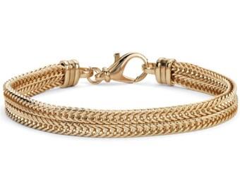Gold Foxtail Chain Choker