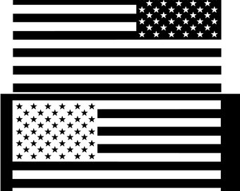 US Flag subdued vinyl vehicle sticker - over 40 colors decal