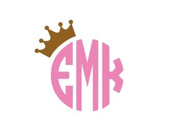 Crown Monogram Etsy