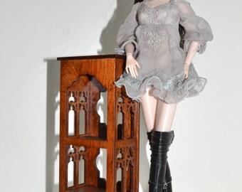 wooden shelf for Dolls 1/6 furniture FR, Barbie, Momoko ooak