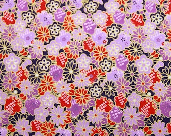 4 sheets A4 Purle Flower Japan Yuzen Chiyogami Washi Origami Papers 216