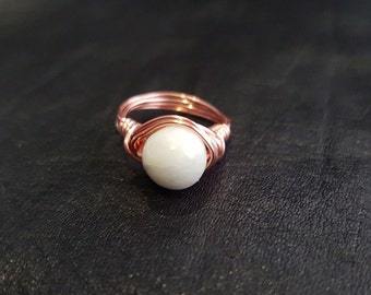 Serpentine ring with coated copper wire