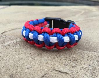 Paracord Bracelet - Red, White & Blue