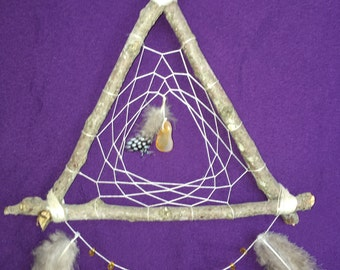 Wooden Triangle Dreamcatcher