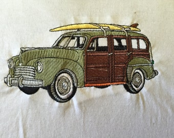 "Embroidered ""Classic Woody"" T-Shirt"