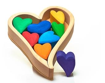 Rainbow Hearts Building Set
