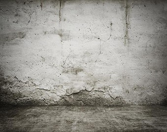 PolyPro Vinyl Photography Backdrop #1173 Concrete Wall & Floor---Available in many sizes!