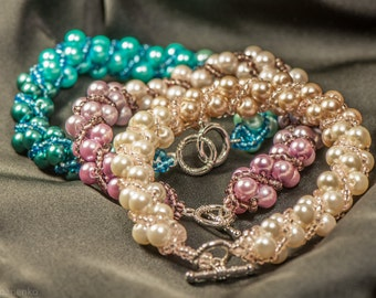 Ombre Glass Pearl Bracelet