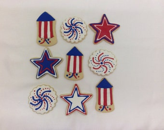 Fireworks Cookie Favors - Set of 6