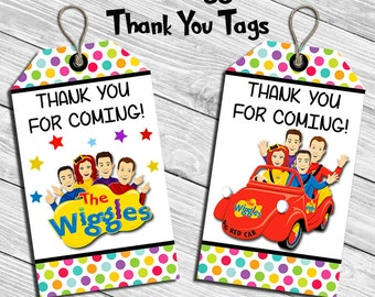 The Wiggles Birthday Party Thank You Tag * Thank You Card  * Favor Tag * Digital Printable Instant Download File