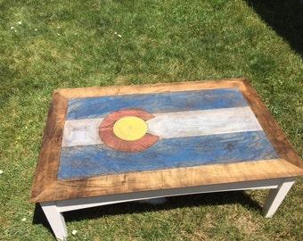 Colorado Flag Coffe Table
