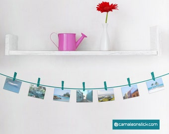 Frame pegs-customizable picture frame wall stickers for kids