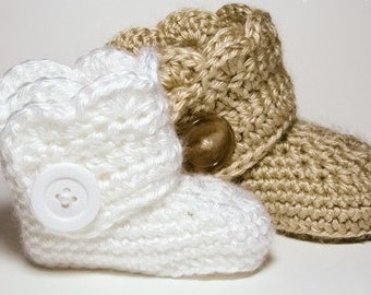 Baby Girl Button Booties