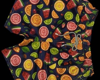 VIDRIC Mens Fruits Swim Trunks