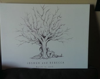 Fingerprint Tree Wedding Guestbook