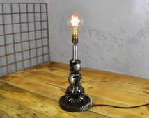 Reclaimed Differential Gear Lamp. Upcycled Home Decor Lighting | Handmade by Envigur LTD