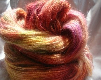 hand dyed mohair 100g/335m 4 ply yarn- 'Marmalade'