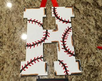 Baseball Hosptial Room Door Hanger