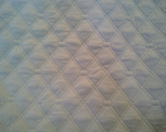 White Quilted (Diamond) Knit