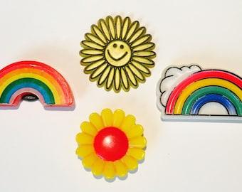 4 Vintage 1980's Magnets