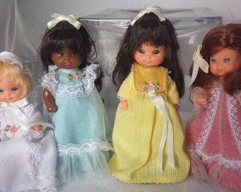 Vintage Mattel Rosebud Dolls - Set of 4