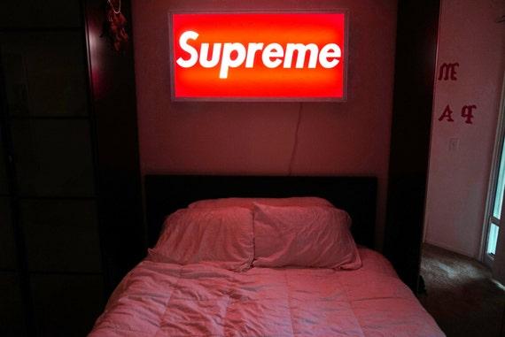 4ft Led Shop Light >> Supreme Inspired LED Lightbox Sign for Home