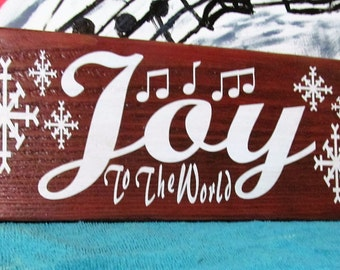 Wood Signs from the Christmas Collection, Joy to the World,  Festive Seasonal Sign, Stocking Stuffer/ Great gift!  >>Clearance  Sale<<SALE