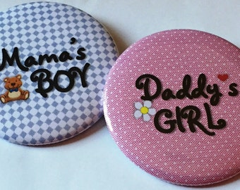 Gender Reveal Party Buttons (Set of 20)