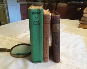 Three vintage children's books.