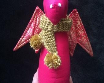 GRISELDA - handmade softie dragon for babies & children. Keepsake toy.
