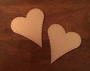Metal Heart Magnets