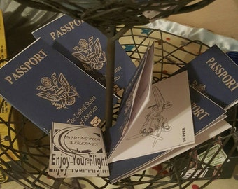"Passport party favor for ""Planes"" themed party- digital download"