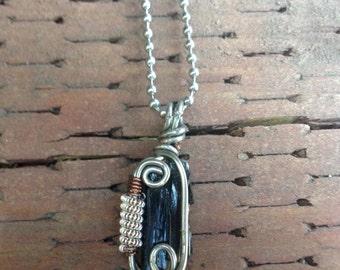 Black tourmaline wire wrap