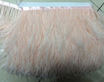 10 M / lot 10 to 15 cm / 4 to 6 inches ostrich feather headdresses Feather Trim Feather Boa stripe for clothing accessories craft party