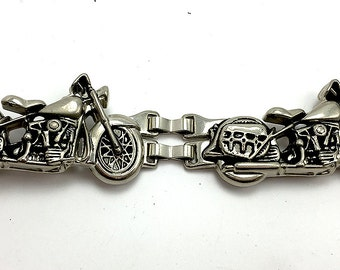 "Metal Linked Motorcycle Embellishment with Link Clips, Choice of Linked Quantity, 2-Linked, 4-Linked, 3.75"" x 1.5"" each link  -1978-R003"