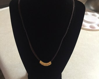 Suede chain necklace