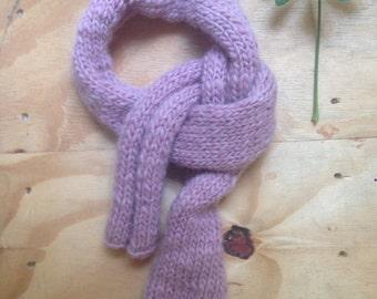 wool pink scarf handkitted