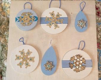 Set of six handmade Christmas ornaments (7)