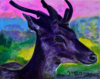 Deer Original Painting